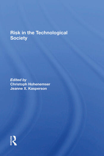 Risk In The Technological Society book cover
