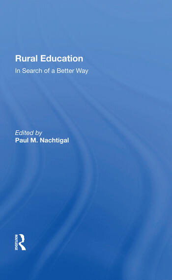 Rural Education In Search Of A Better Way book cover