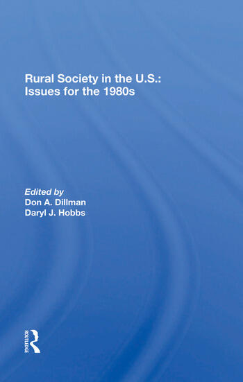 Rural Society In The U.s. Issues For The 1980s book cover