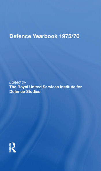 The RUSI and Brassey's Defence Yearbook 1975-1976 book cover