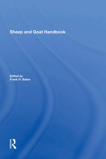 Sheep And Goat Handbook, Vol. 3 book cover