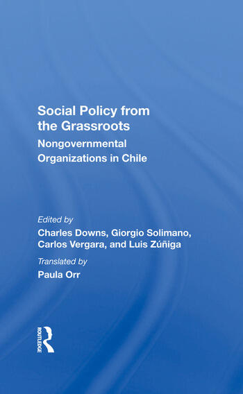 Social Policy From The Grassroots Nongovernmental Organizations In Chile book cover