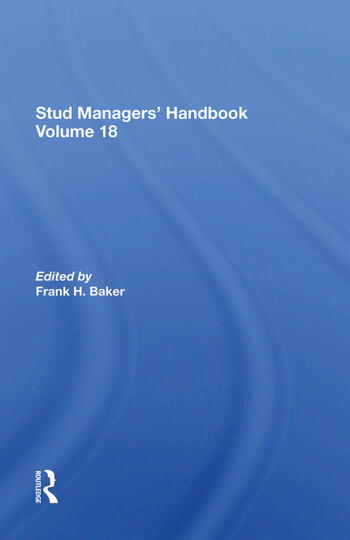 Stud Managers' Handbook, Vol. 18 book cover