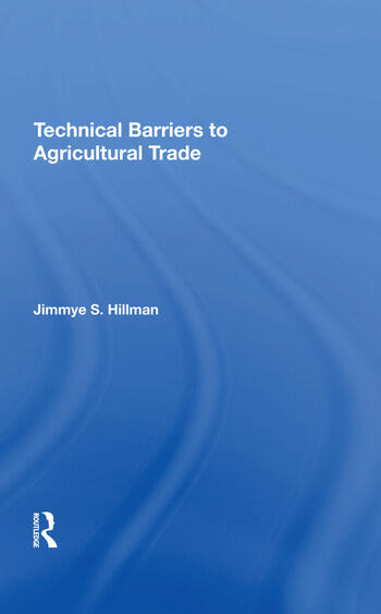 Technical Barriers To Agricultural Trade book cover