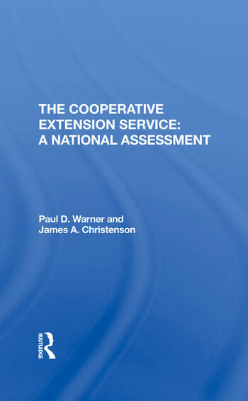 The Cooperative Extension Service A National Assessment book cover