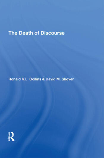 The Death Of Discourse book cover