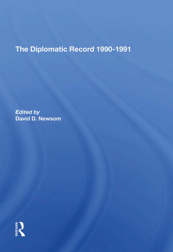 The Diplomatic Record 19901991 book cover