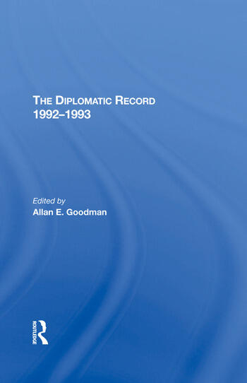 The Diplomatic Record 19921993 book cover