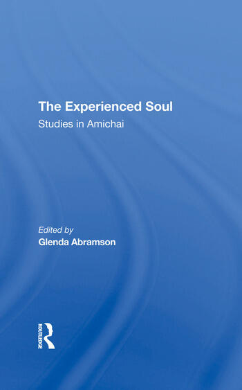 The Experienced Soul Studies In Amichai book cover