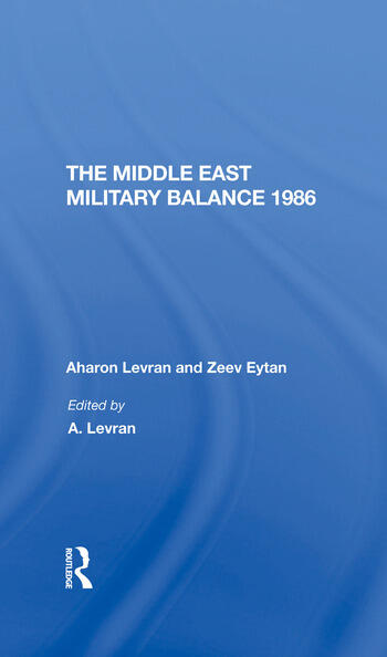 The Middle East Military Balance 1986 book cover