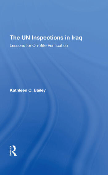 The Un Inspections In Iraq Lessons For Onsite Verification book cover