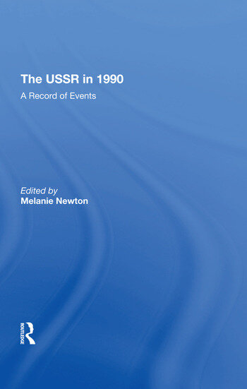 The Ussr In 1990 A Record Of Events book cover
