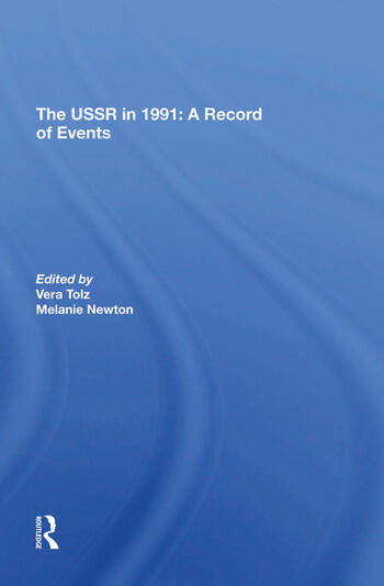 The Ussr In 1991 A Record Of Events book cover