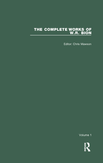 The Complete Works of W.R. Bion Volume 1 book cover