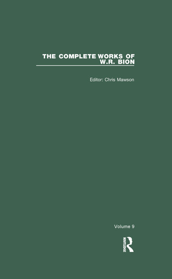 The Complete Works of W.R. Bion Volume 9 book cover