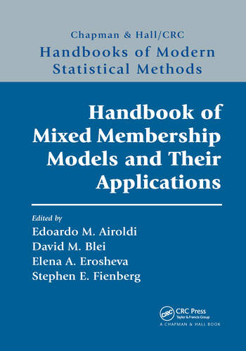 Handbook of Mixed Membership Models and Their Applications book cover