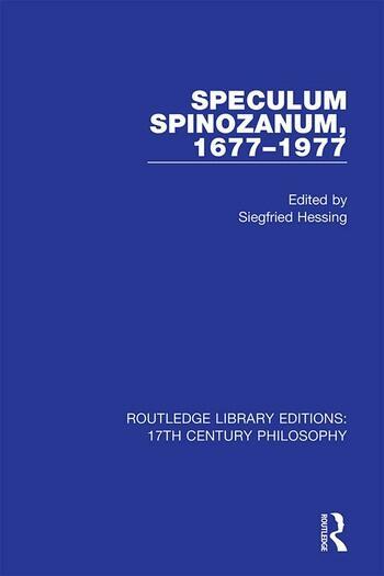 Speculum Spinozanum, 1677-1977 book cover