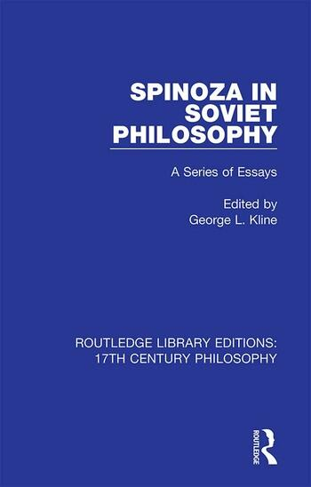 Spinoza in Soviet Philosophy A Series of Essays book cover