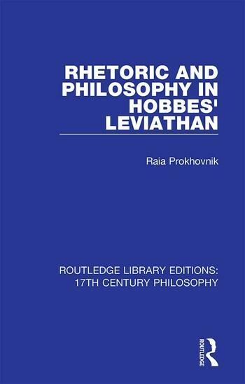Rhetoric and Philosophy in Hobbes' Leviathan book cover