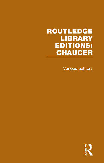 Routledge Library Editions: Chaucer book cover