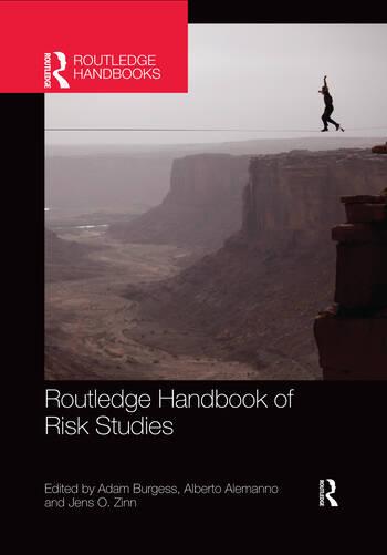 Routledge Handbook of Risk Studies book cover