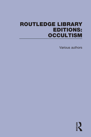 Routledge Library Editions: Occultism book cover