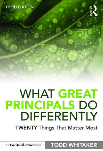 What Great Principals Do Differently Twenty Things That Matter Most book cover