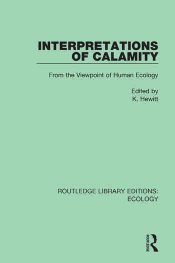 Interpretations of Calamity From the Viewpoint of Human Ecology book cover
