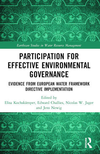 Participation for Effective Environmental Governance Evidence from European Water Framework Directive Implementation book cover