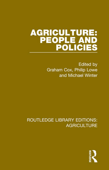 Agriculture: People and Policies book cover
