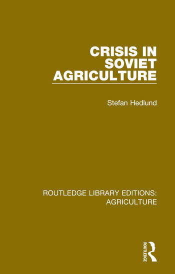 Crisis in Soviet Agriculture book cover