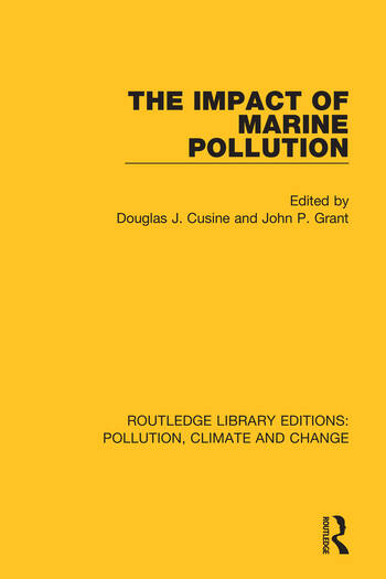 The Impact of Marine Pollution book cover