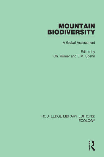 Mountain Biodiversity A Global Assessment book cover