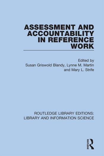 Assessment and Accountability in Reference Work book cover