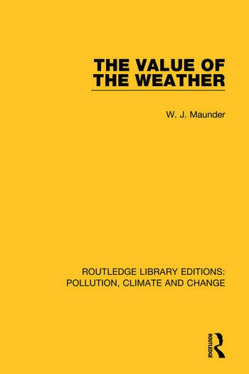 The Value of the Weather book cover