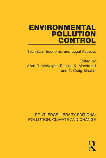 Environmental Pollution Control Technical, Economic and Legal Aspects book cover
