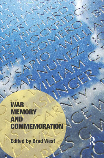 War Memory and Commemoration book cover