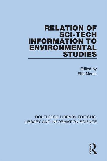 Relation of Sci-Tech Information to Environmental Studies book cover