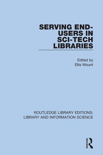 Serving End-Users in Sci-Tech Libraries book cover