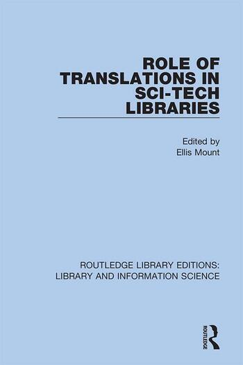 Role of Translations in Sci-Tech Libraries book cover