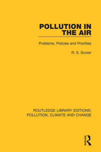 Pollution in the Air Problems, Policies and Priorities book cover