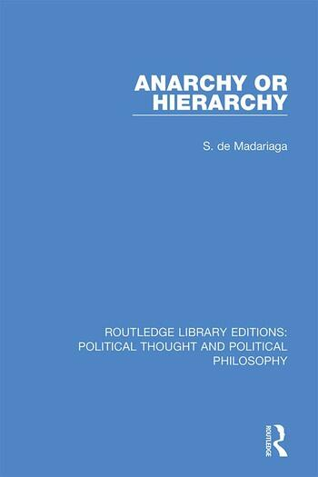 Anarchy or Hierarchy book cover