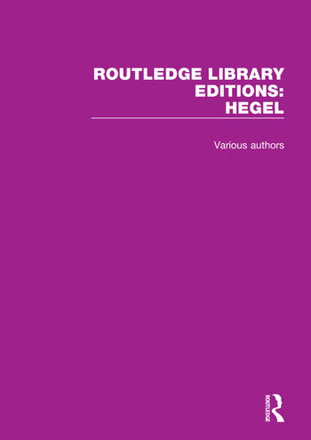 Routledge Library Editions: Hegel book cover