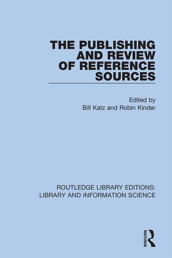 The Publishing and Review of Reference Sources book cover