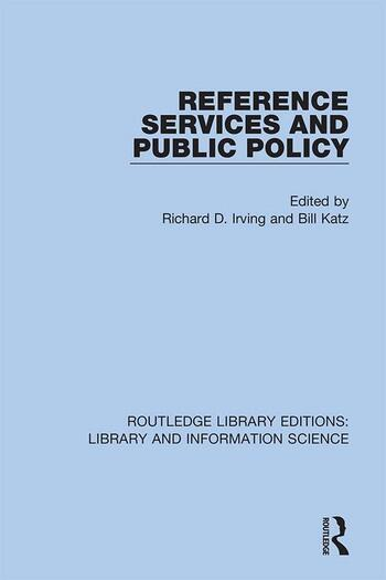 Reference Services and Public Policy book cover