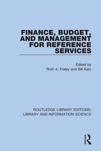 Finance, Budget, and Management for Reference Services book cover
