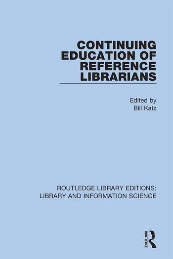 Continuing Education of Reference Librarians book cover