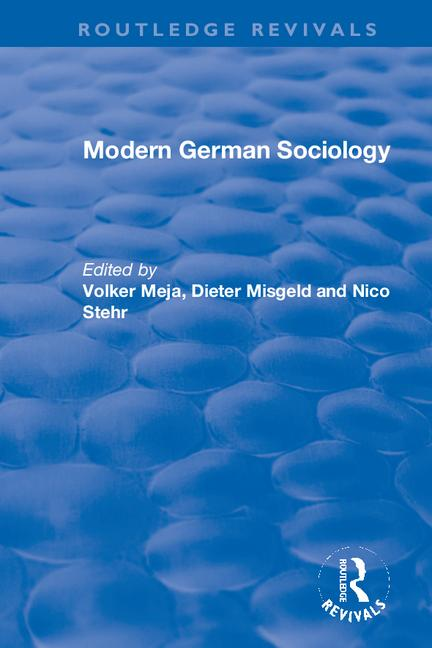 Modern German Sociology book cover