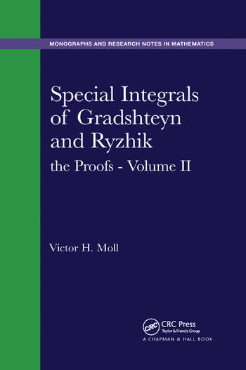 Special Integrals of Gradshteyn and Ryzhik the Proofs - Volume II book cover