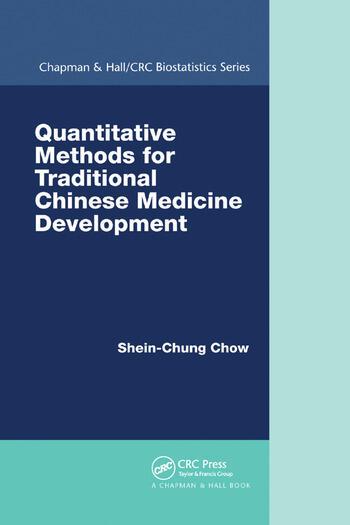 Quantitative Methods for Traditional Chinese Medicine Development book cover